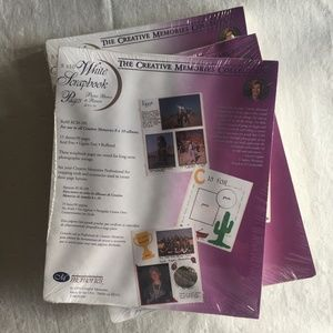 """Creative Memories ~ 8""""x10"""" White Refill Pages"""